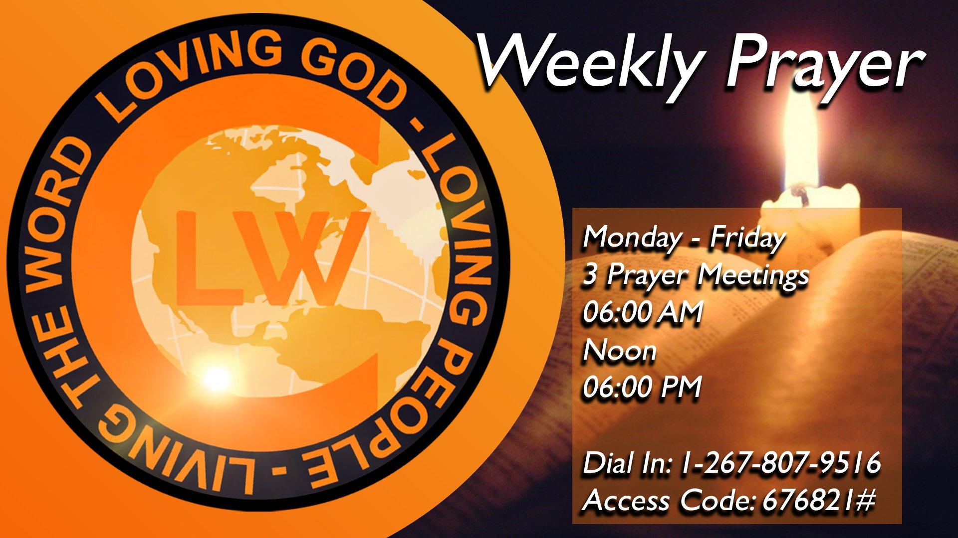 Weekly Prayer Conf Call